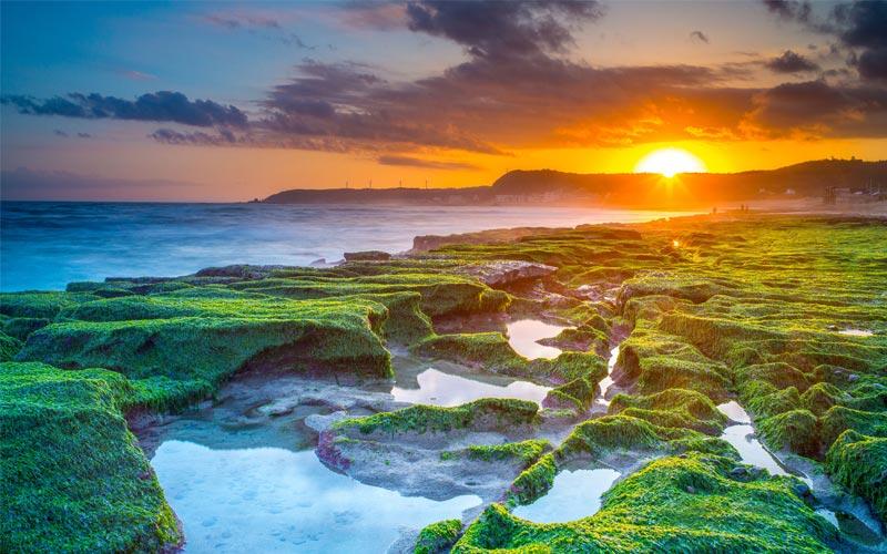 Nói tới một địa điểm để ngắm hoàng hôn đẹp tuyệt vời thì không thể bỏ qua công viên quốc gia Khẩn Đinh nằm ở miền Nam Đài Loan
