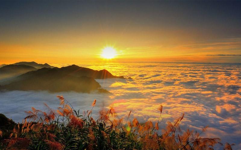 Du khách có thể tới khu thắng cảnh quốc gia Alishan ở miền Nam Đài Loan để ngắm cảnh mặt trời mọc tuyệt đẹp, ngắm nhìn biển mây như trong mơ