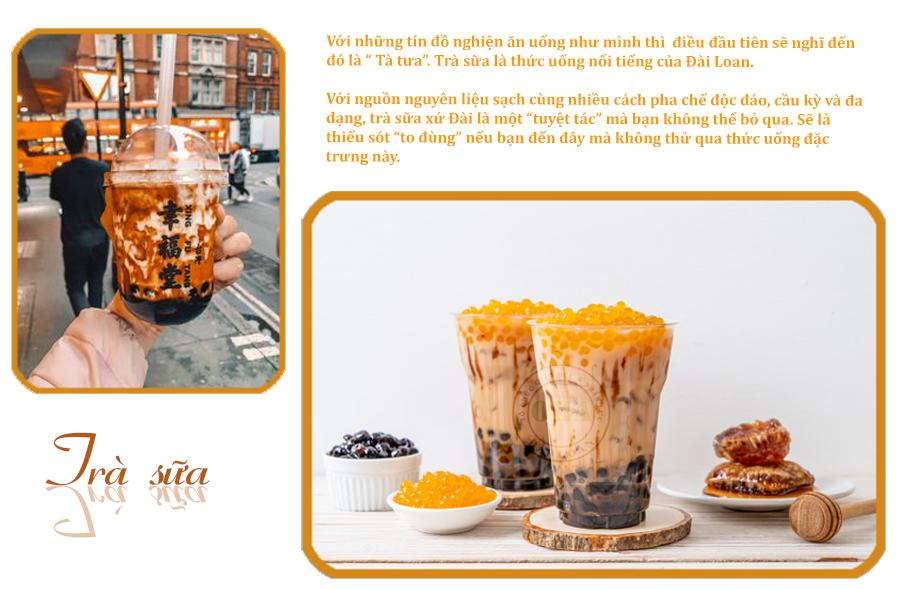 Trà sữa - Ẩm thực Đài Loan