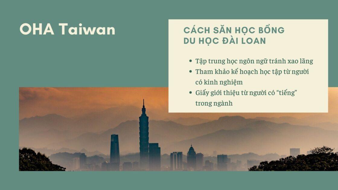 Cách xin học bổng du học Đài Loan chuẩn nhất từ OHA Taiwan