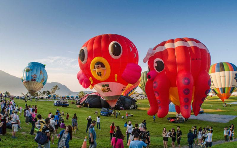 Địa điểm du lịch Đài Loan cùng lễ hội Khinh khí cầu Quốc tế