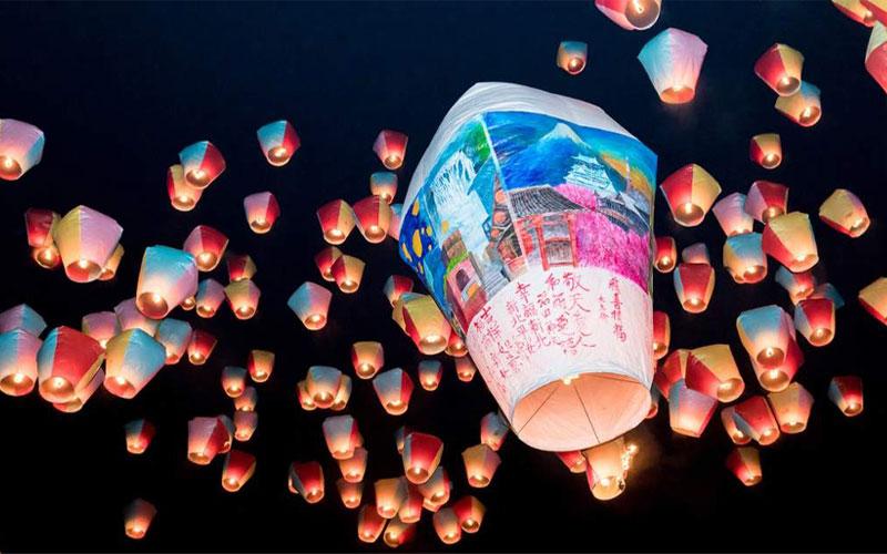 Du lịch Đài Loan dịp Tết Nguyên Đán để ngắm đèn trời Bình Khê