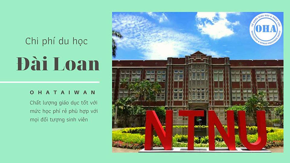 Chi phí du học Đài Loan tại Đại học Sư phạm Quốc gia Đài Loan