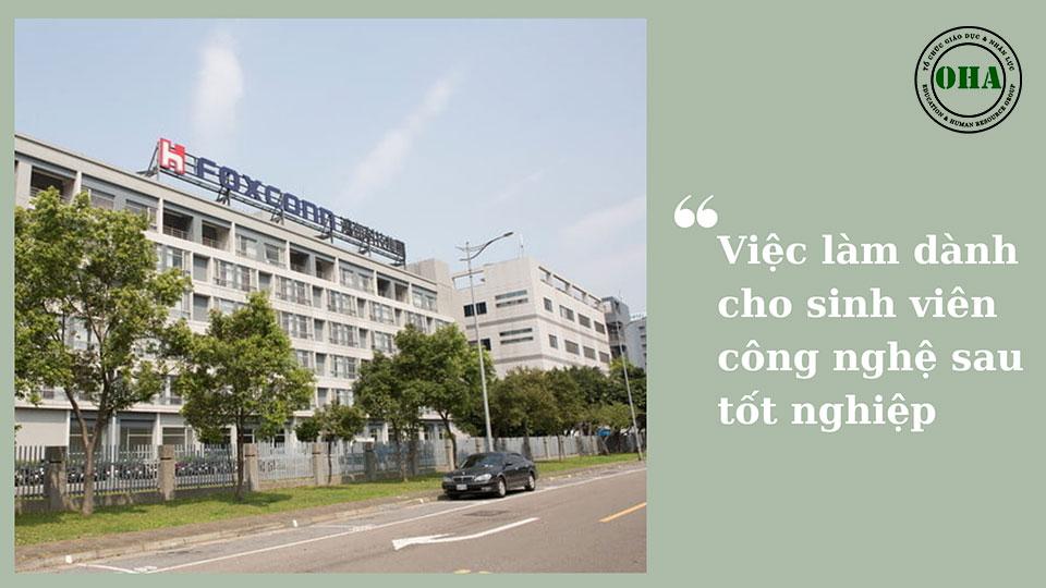 Việc làm dành cho sinh viên du học Đài Loan ngành Công nghệ