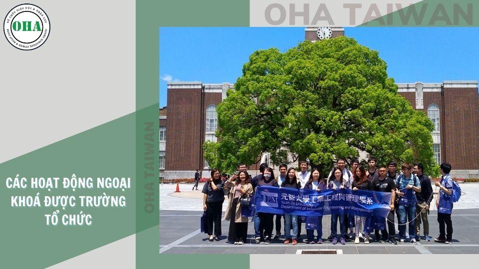 Hoạt động ngoại khóa dành cho sinh viên du học Đài Loan tại trường Đại học Nguyên Trí - YZU