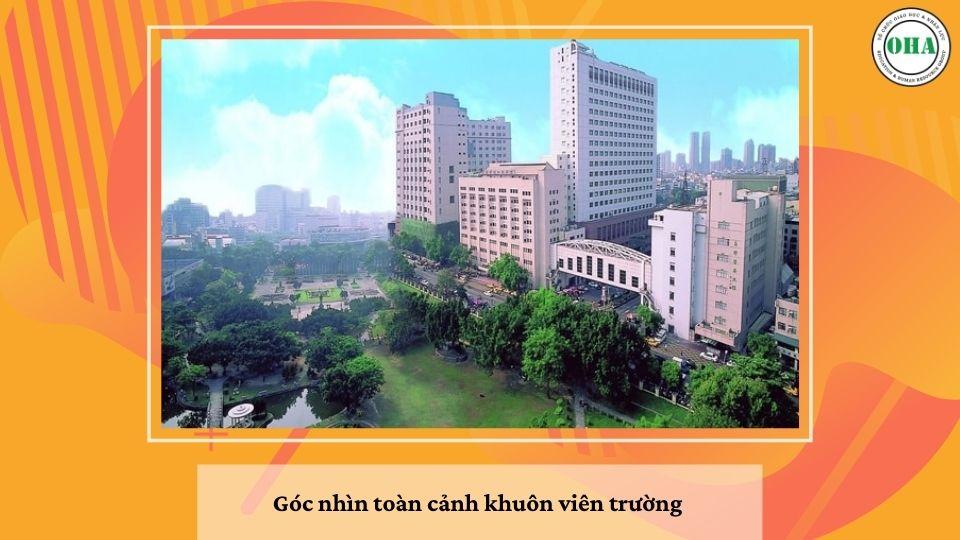 Góc nhìn toàn cảnh khuôn viên trường Đại học Y dược Trung Hoa - CMU