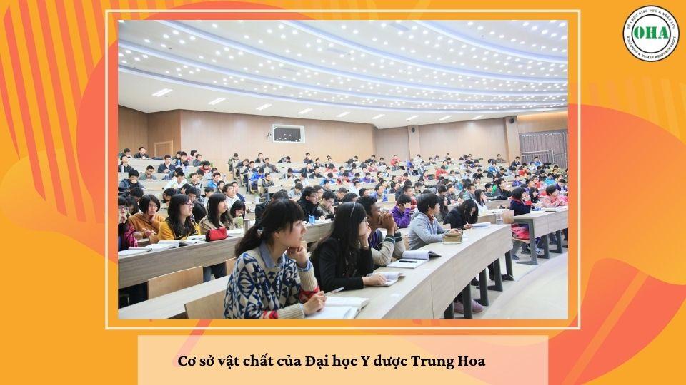 Cơ sở vật chất hiện đại bậc nhất của Đại học Y dược Trung Hoa