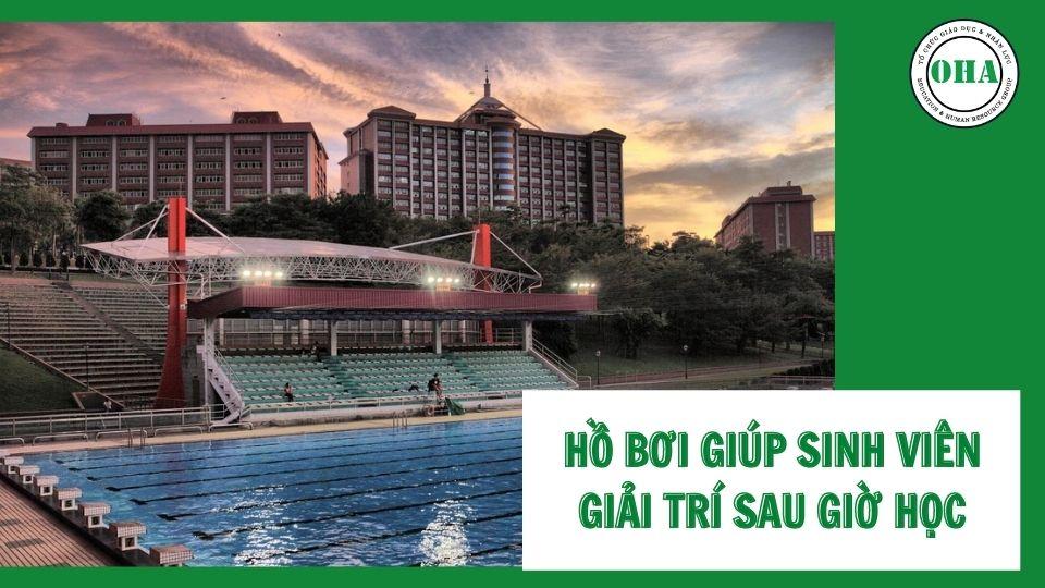 Đại học Nghĩa Thủ sở hữu hồ bơi đạt chuẩn quốc tế