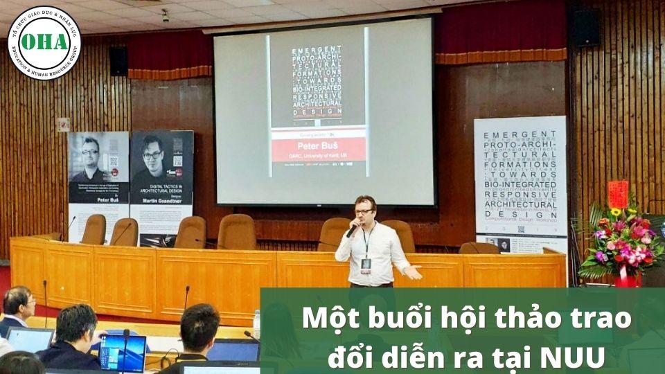 Một buổi hội thảo trao đổi diễn ra tại Đại học Quốc Lập Liên Hợp