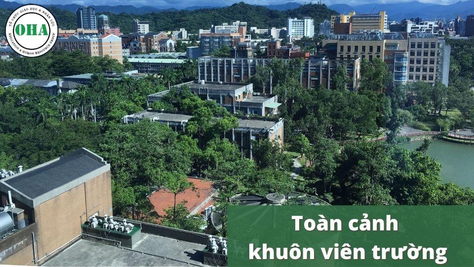Toàn cảnh khuôn viên trường Đại học Quốc Lập Liên Hợp