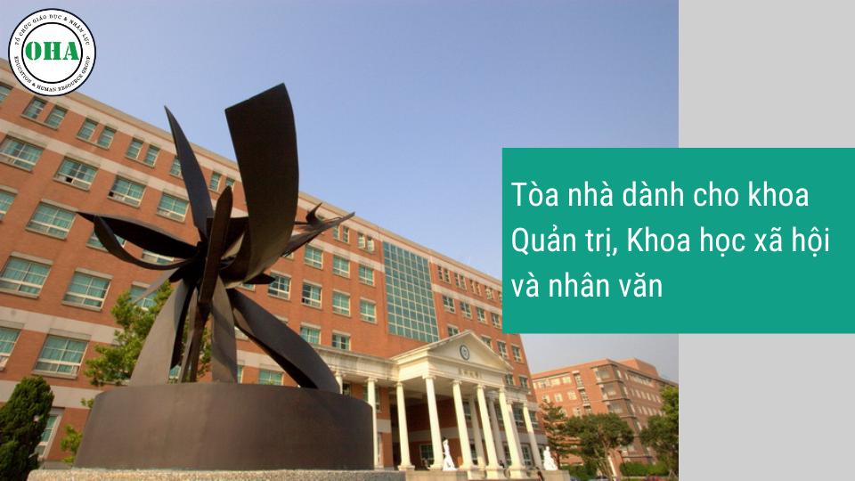 Tòa nhà của khoa Quản trí, Khoa học và Nhân văn của Đại học Á Châu Đài Loan